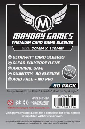 Mayday - 50 Kartenhüllen Premium Magnum für Kartengröße 70 x 110 mm