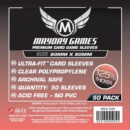 Mayday - 50 Kartenhüllen Premium quadratisch für Kartengröße 80 x 80 mm