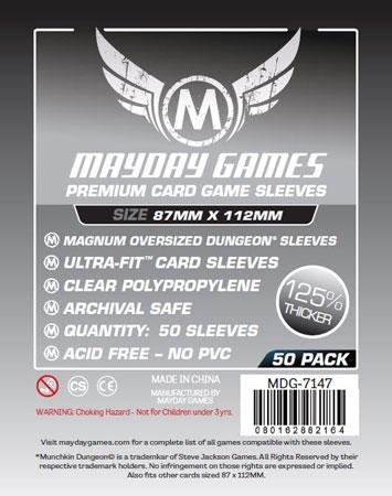 Mayday - 50 Kartenhüllen Premium Magnum Übergröße für Kartengröße 87 x 112 mm