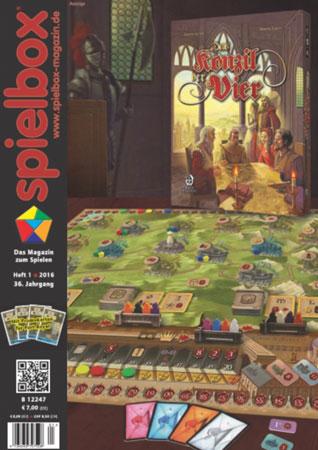 """Spielbox 01/2016 inkl. vier Sonderkarten """"Spieler"""" für Port Royal"""