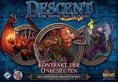 Descent 2. Edition - Kontrakt der Unbesiegten - Helden- und Monster-Set
