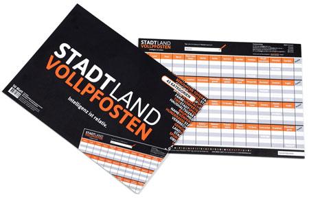 Stadt Land Vollpfosten - XXL-Block (DINA3-Format)