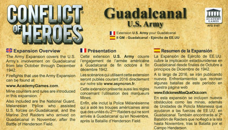 Conflict of Heroes - Guadalcanal Army Expansion (engl.)