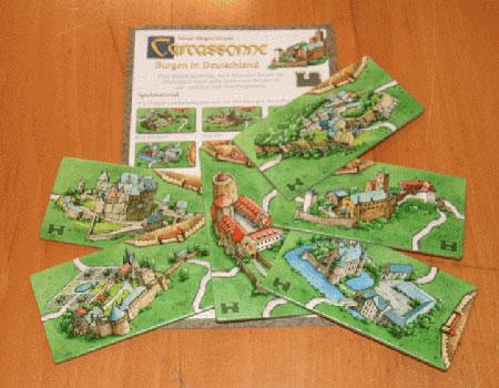 Carcassonne - Burgen in Deutschland Erweiterung