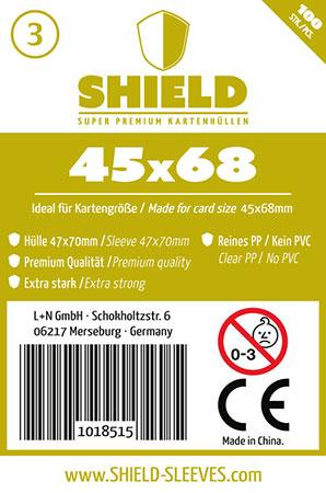 Shield - 100 Super Premium Kartenhüllen für Kartengröße 45 x 68 mm