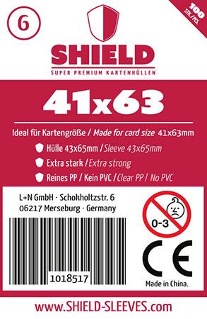 Shield - (100 Päckchen) 100 Super Premium Kartenhüllen für Kartengröße 41 x 63 mm