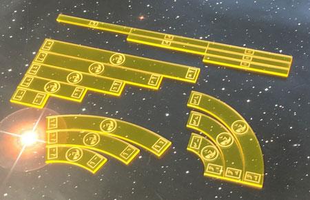 GeekMod - Star Wars X-Wing - Maßstab und Manöverschablonen aus Acryl (Scums)