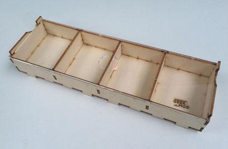 GeekMod - große Sortierbox aus Holz mit 4 Fächern