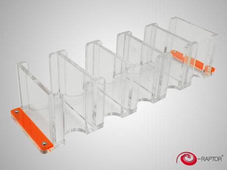 e-Raptor Kartenhalter - 5S Solid (Plexiglas transparent)