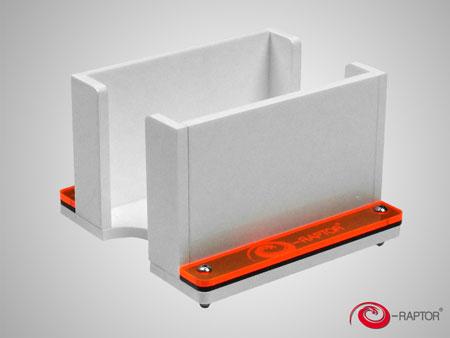 e-Raptor Kartenhalter - 1L Solid (Plexiglas weiß)