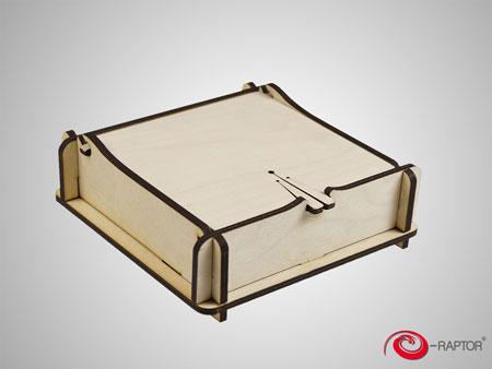 e-Raptor Magic Aufbewahrungsbox - natur (Holz)