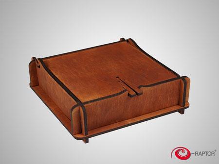 e-Raptor Magic Aufbewahrungsbox - Mahagony (Holz)