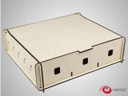 e-Raptor Universale Aufbewahrungsbox (Medium) - natur (Holz)