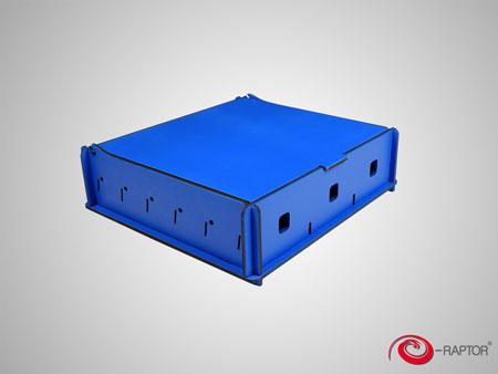 e-Raptor Universale Aufbewahrungsbox (Medium) - blau (Holz)