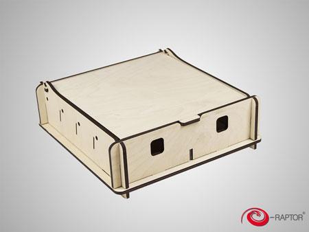 e-Raptor Universale Aufbewahrungsbox (klein) - natur (Holz)