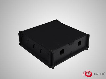 e-Raptor Universale Aufbewahrungsbox (klein) - schwarz (Holz)