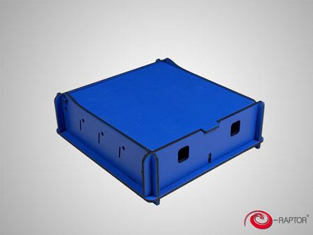 e-Raptor Universale Aufbewahrungsbox (klein) - blau (Holz)