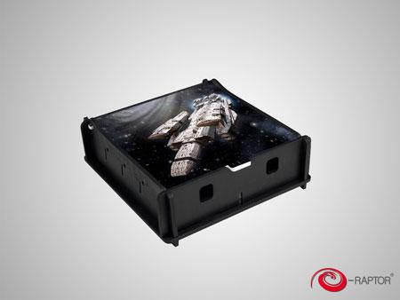 e-Raptor Universelle Aufbewahrungsbox klein - Spaceship (Holz)