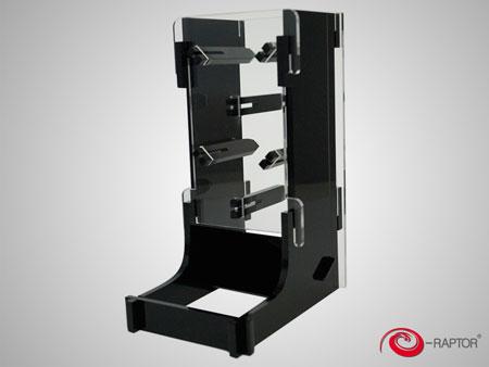 e-Raptor Würfelturm Cuboid Basic aus Plexiglas (schwarz)