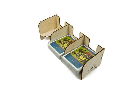 The Broken Token - Standard Kartenhalter mit 3 Ablagefächern