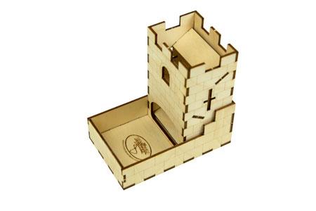 The Broken Token - Würfelturm aus Holz