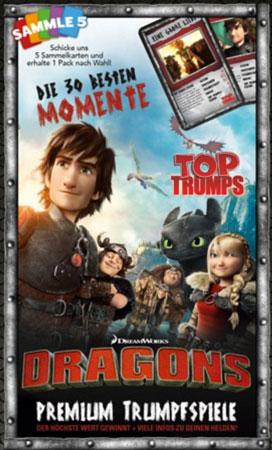 TOP TRUMPS - Dragons - Die 30 besten Momente
