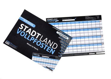 Stadt Land Vollpfosten - Erweiterung Blue Edition (DinA3-Format)