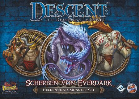 Descent 2. Edition - Scherben von Everdark - Helden- und Monster-Set
