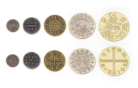 Spielgeldmünzen-Set Wikinger