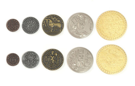 Spielgeldmünzen-Set Indien