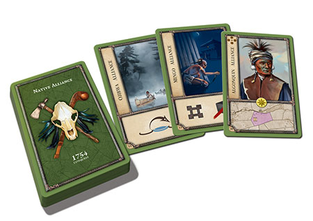 Birth of America - 1754 - Conquest: The French and Indian War - Native Alliance Expansion Card Deck (engl.)