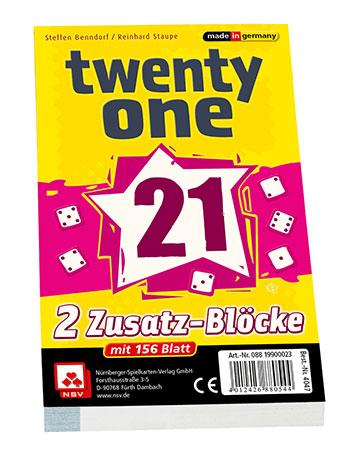 Twenty One - Ersatzblöcke (2er)
