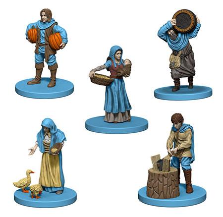 Agricola - blaue Miniaturen inkl. Erweiterung