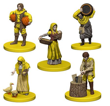 Agricola - gelbe Miniaturen inkl. Erweiterung (engl.)