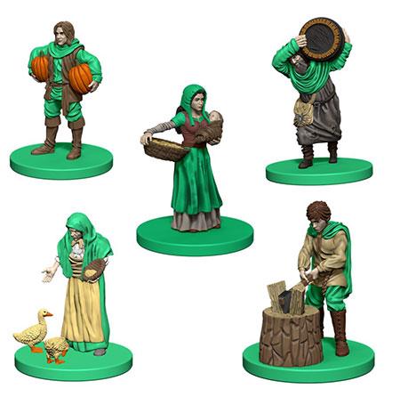 Agricola - grüne Miniaturen inkl. Erweiterung