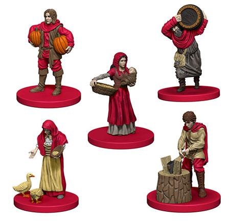 Agricola - rote Miniaturen inkl. Erweiterung (engl.)
