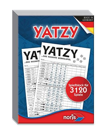 Yatzy - Spielblock für 3120 Spiele