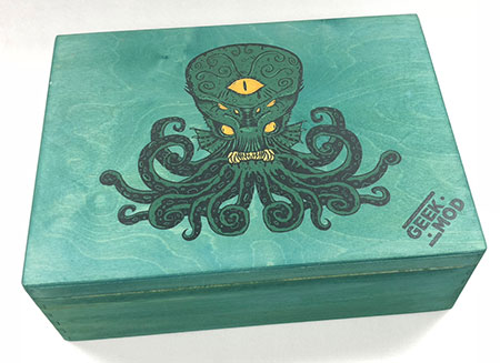 GeekMod - große Sortierbox aus Holz für Arkham Horror Kartenspiel