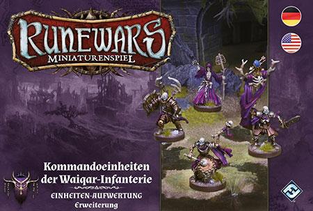 Runewars - Miniaturenspiel - Kommandoeinheiten der Waiqar-Infanterie Einheiten-Aufwertung Erweiterung