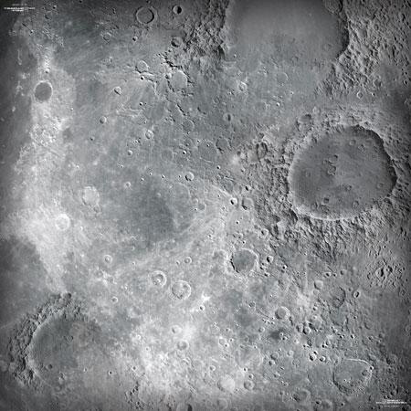 Spielmatte Mond (90 x 90 cm)