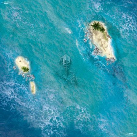 Spielmatte Ozean (60 x 60 cm)