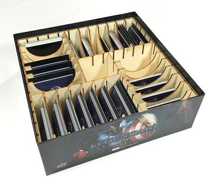 GeekMod - Sortierbox aus Holz für Legendary Marvel Kartenspiel