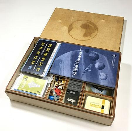 GeekMod - große Sortierbox aus Holz für Leaving Earth