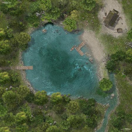 Spielmatte See (90 x 90 cm)