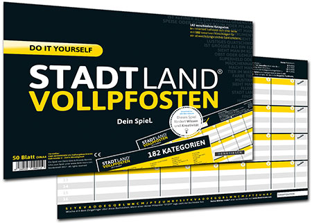 Stadt Land Vollpfosten - Do It Yourself Edition (DINA4-Format)