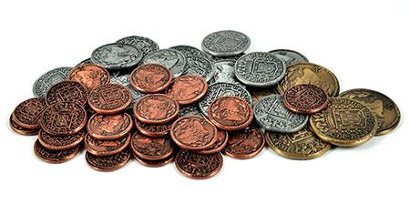 Lisboa - 50 Spielgeldmünzen aus Metall