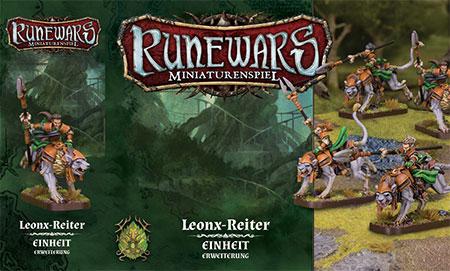 Runewars - Miniaturenspiel - Leonx-Reiter Einheit Erweiterung