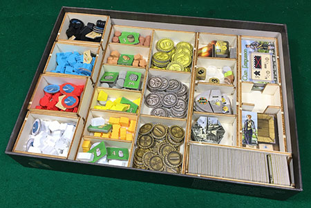 GeekMod - Sortierbox aus Holz für Clans of Caledonia