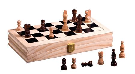 Schach - Holzkassette, Buchoptik (Piatnik)