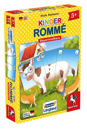 Kinder-Rommé - Bauernhoftiere